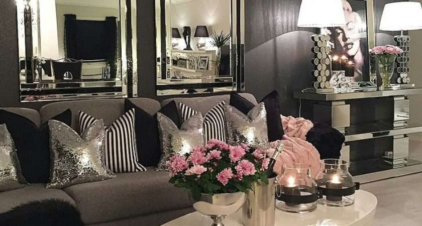 Black Silver Living Room Decor Home Decorating Ideas