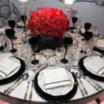 Black Silver Red Table Decorations Photograph