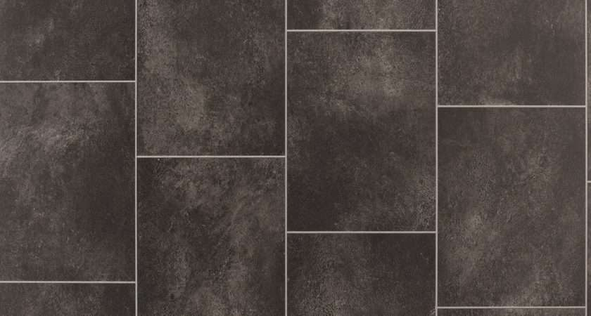 Black Slate Tile Effect Vinyl Flooring Departments