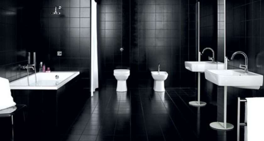 Black White Bathroom Decorating Home Inspiration