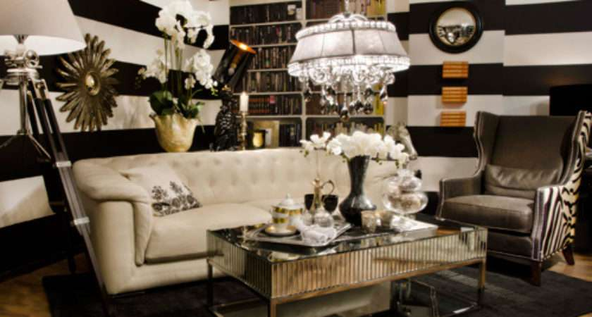 Black White Gold Color Scheme Interiors Photos