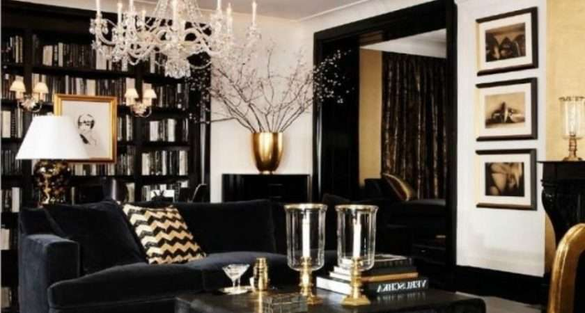 Black White Gold Living Room Decor Luxury Brown