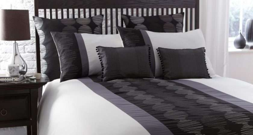 Black White Grey Bedding Contemporary French Bedrooms