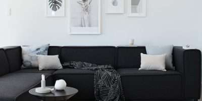 Black White Living Room Furniture Sofa Decor Big