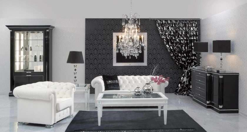 Black White Living Room Interior Design Ideas