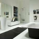 Black White Modern Bathroom Interior Design Architecture