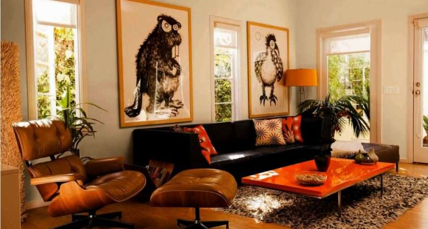 Black White Orange Home Decor
