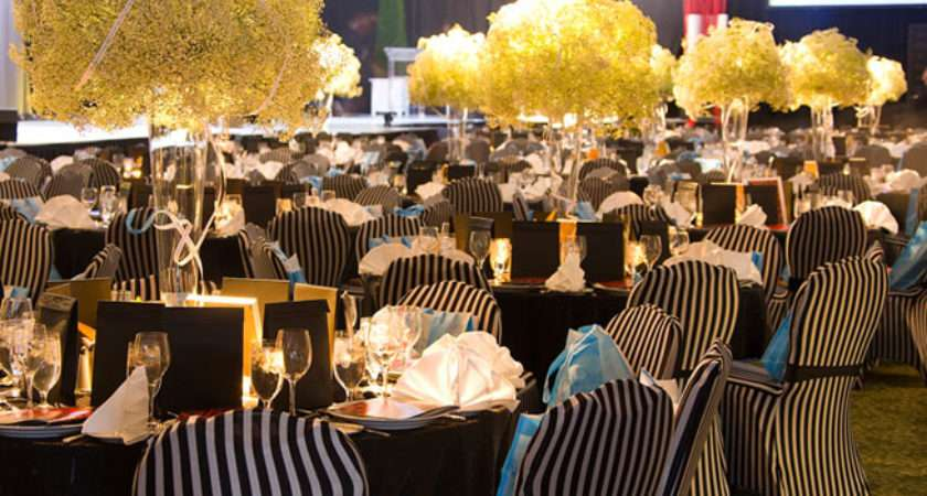 Black White Striped Chair Covers Decor Added