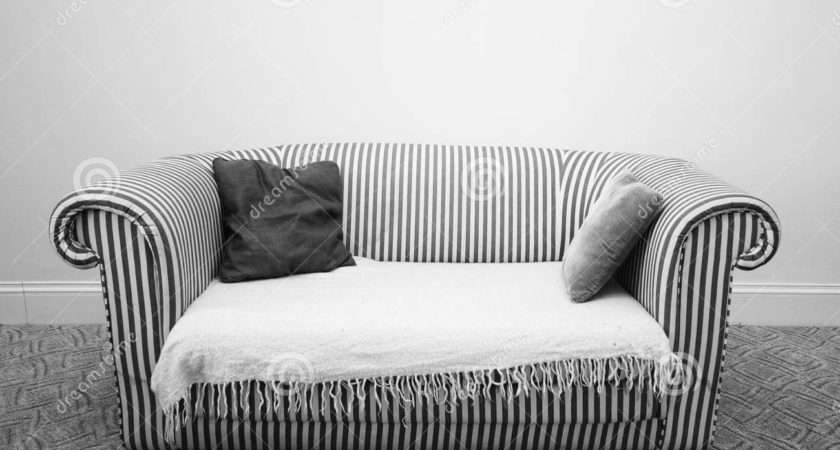 Black White Striped Couch Homesfeed
