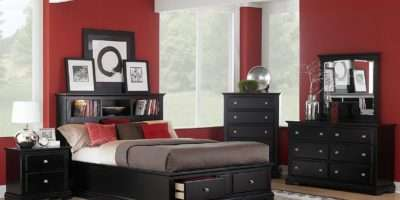 Black Wood Furniture Bedroom Raya