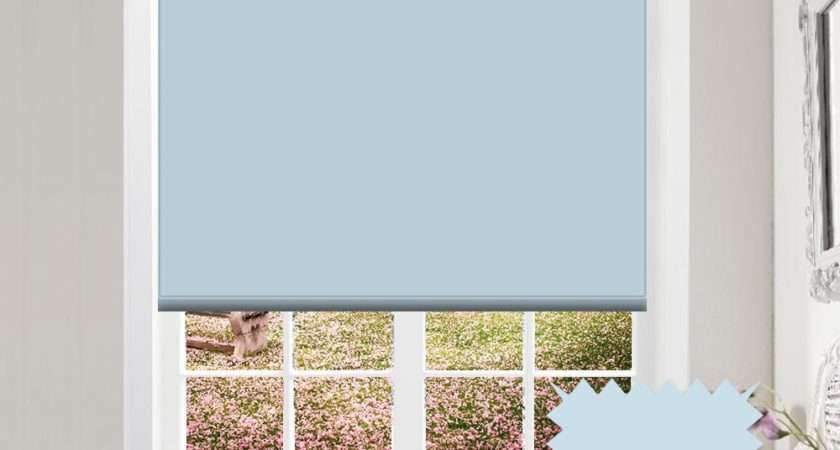 Blackout Baby Blue Roller Blind Bermuda Spa Pale