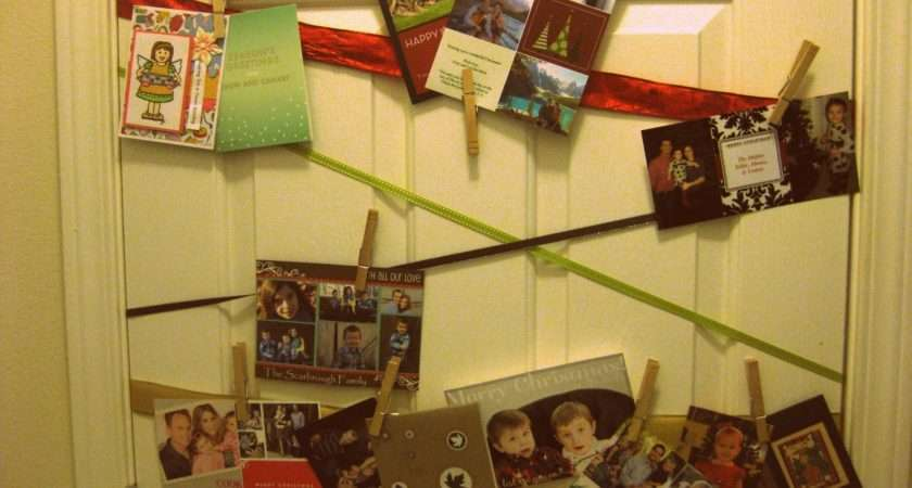 Bloggers Cool Creative Ways Display Your Holiday Cards