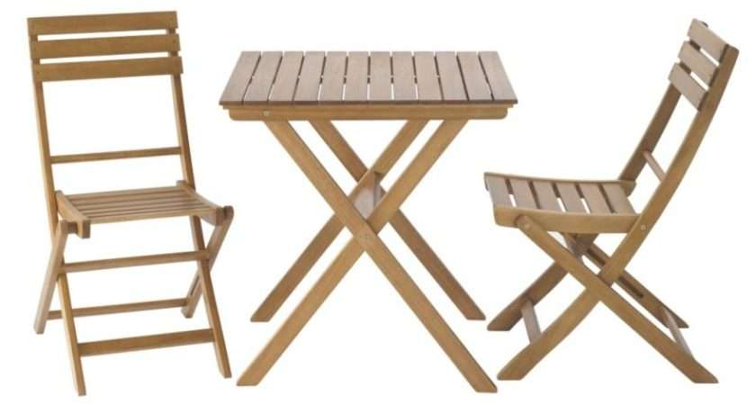 Blooma Worcester Wooden Table Chair Garden Bistro Set