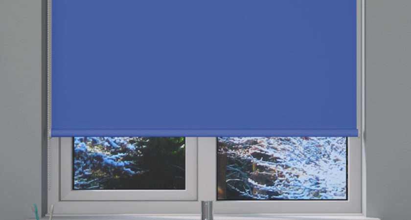 Blue Blackout Roller Blind Blinds Direct
