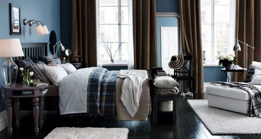Blue Brown White Bedroom Interior Design Ideas