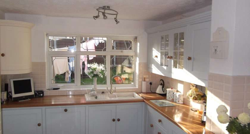 Blue Cream Painted Kitchen George Frederick Cabinet Makers Leek