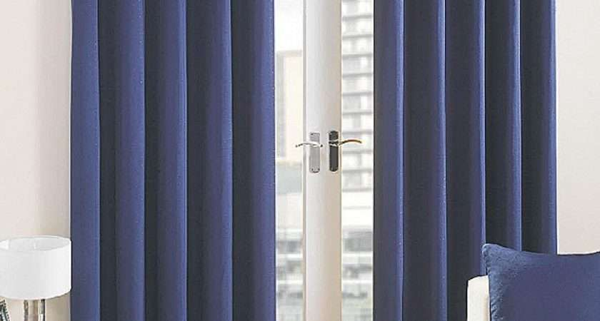 Blue Eyelet Curtains Ready Made Gopelling
