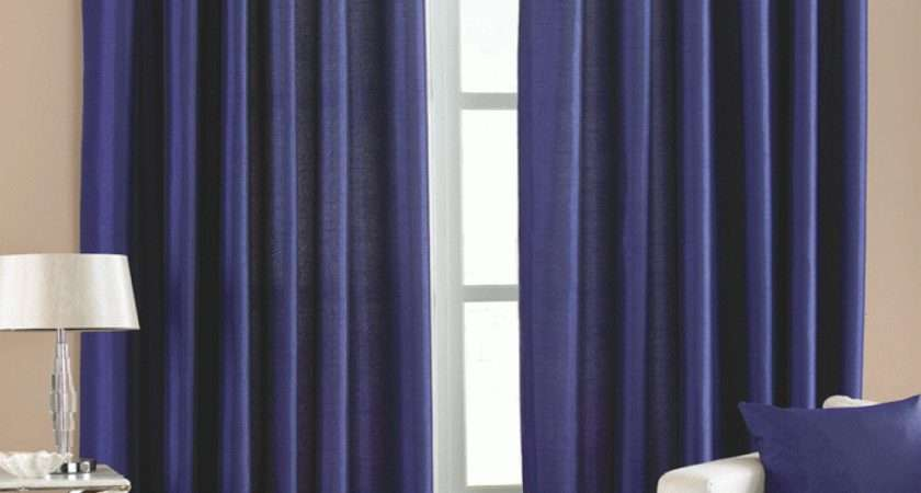 Blue Faux Silk Eyelet Curtains Two Birds Home