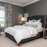Blue Gray Bedroom Contemporary Atmosphere Interior