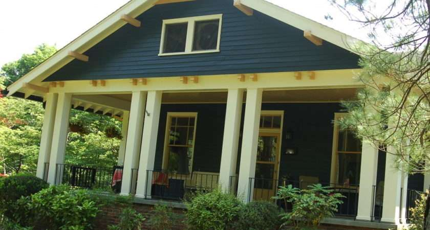 Blue House Reveal Repurposed Front Porch Simply