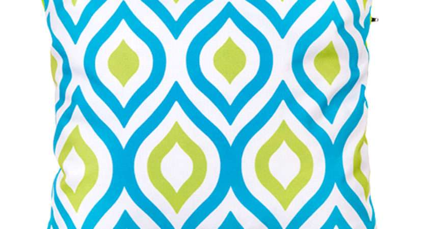 Blue Lime Abstract Water Resistant Outdoor Printed