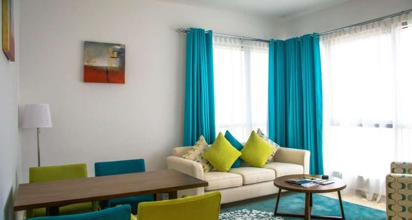 Blue Living Room Curtains Ideas Nice