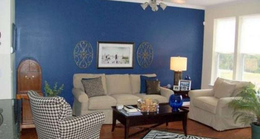 Blue Living Room Rooms Houses Interior
