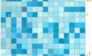 Blue Mosaic Tiles Illustration Shades
