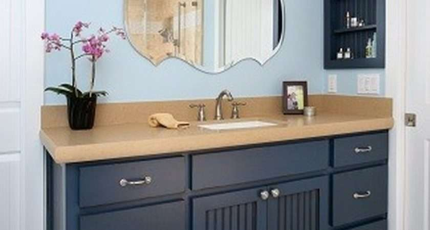 Blue Painted Bathroom Cabinets More Subdued Natural Aqua Color