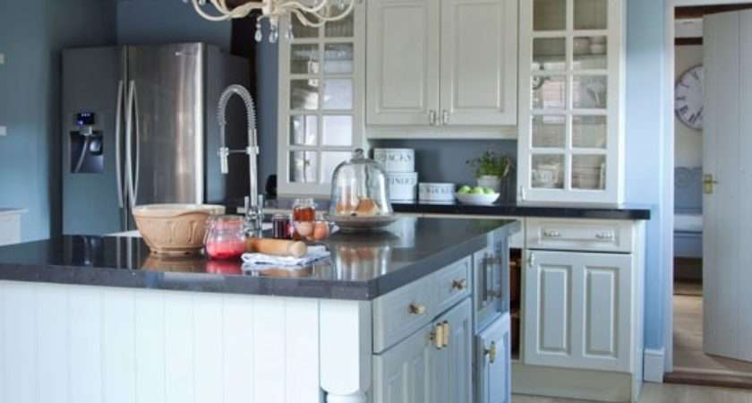 Blue Painted Country Kitchen Planning Ideas