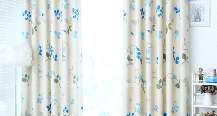 Blue Printed Leaf Pattern Insulated Thermal Ready Made