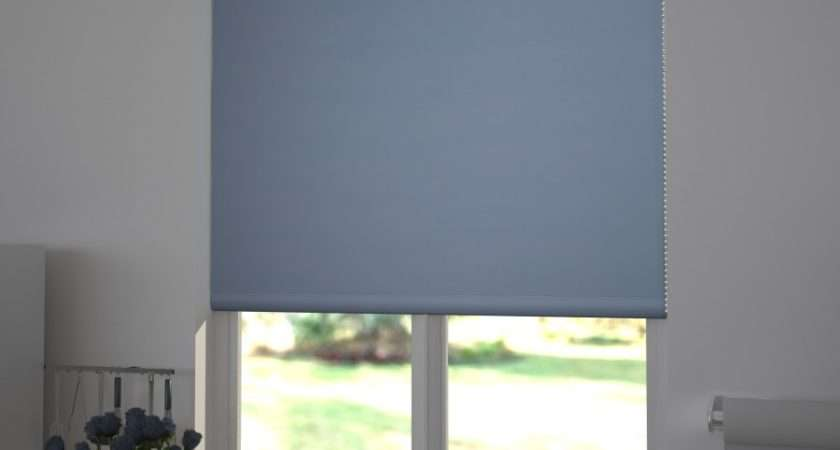Blue Roller Blinds Simple Light Blackout