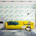 Blue Yellow Living Room