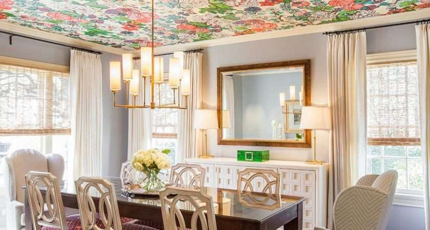 Bold Floral Ceiling