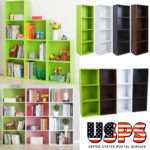 Bookcase Shelf Storage Bookshelf Wood Furniture