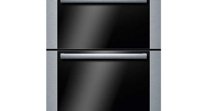 Bosch Exxcel Hbm Built Electric Double Oven Brushed Steel
