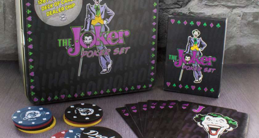 Box Joker Printed Front Poker Chips Cards