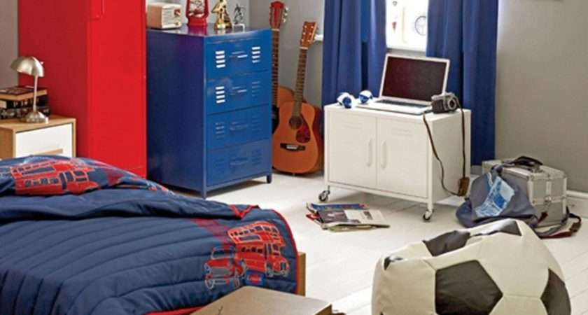 Boys Bedroom Agreeable Red Blue Sport Theme