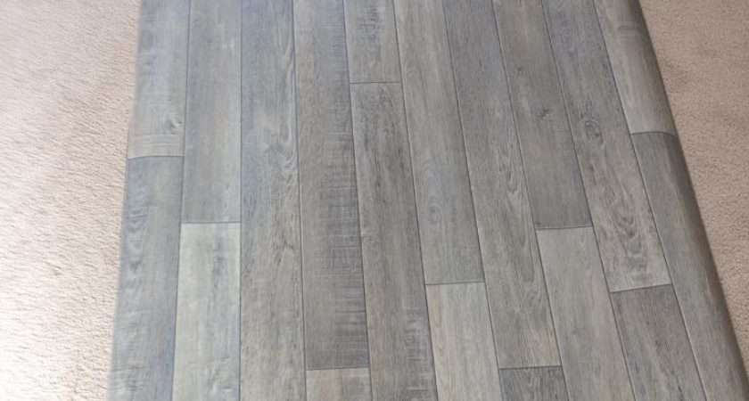 Brand New Grey Wood Effect Lino Houghton