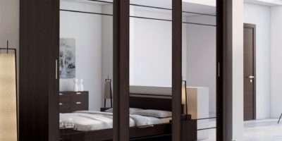 Brand New Modern Bedroom Sliding Door Mirror Wardrobe