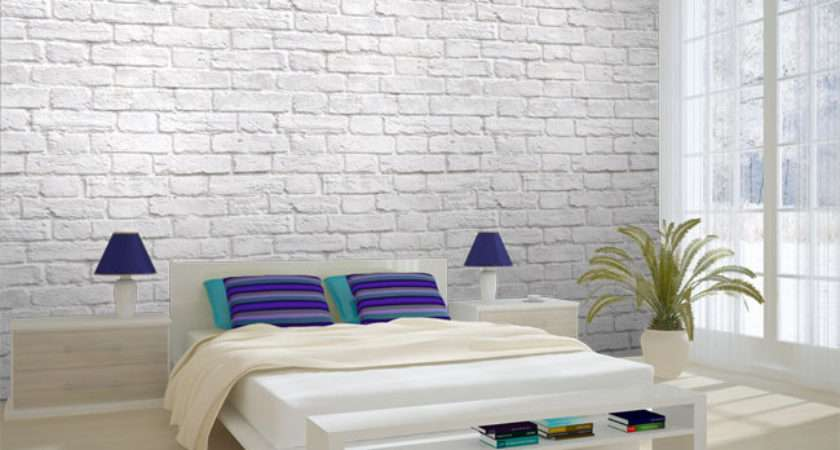 Brick Effect Wallpapered