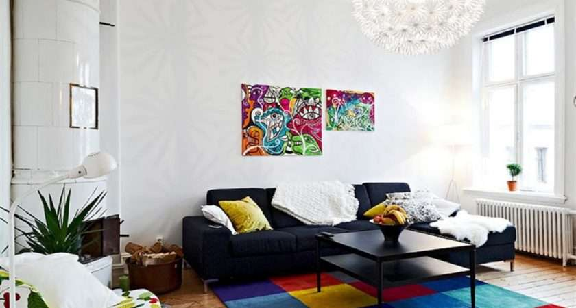 Bright Colored Rugs Living Room Furnish