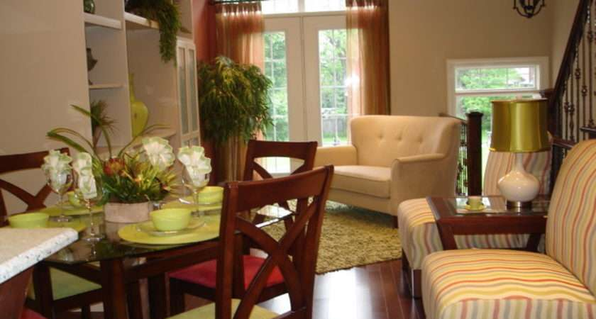 Bright Model Townhouse Contemporary Living Room
