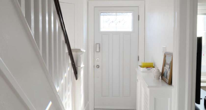 Bright White Hallway Rambling Renovators