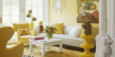 Bright Yellow Decoration Living Room