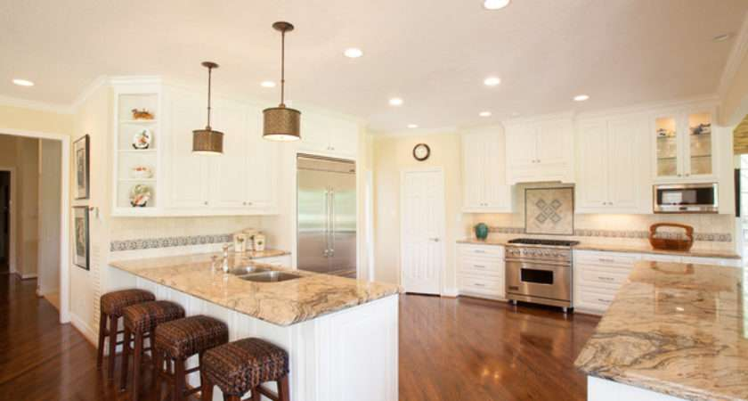 British Colonial Traditional Kitchen Houston