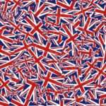 British Union Jack Flag Abstract Design