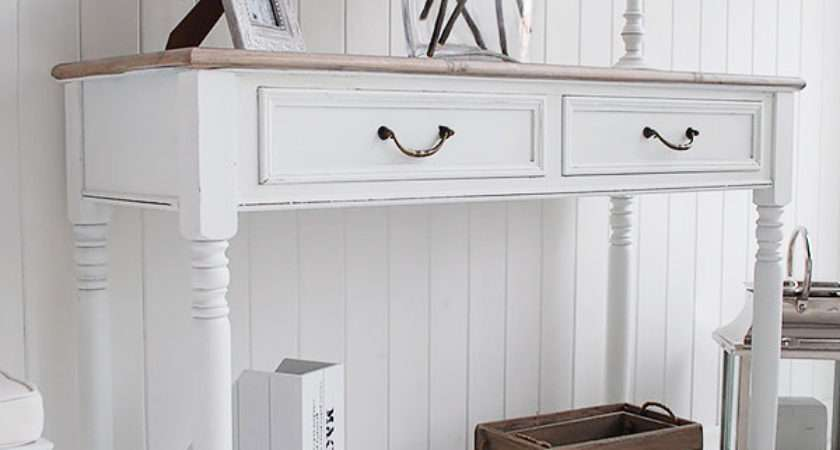 Brittany White Console Table French Hall Furniture