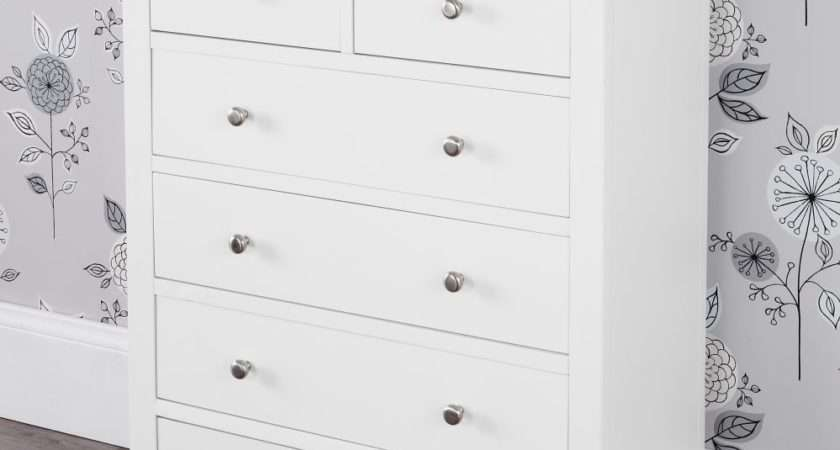 Brooklyn White Bedroom Furniture Chest Drawers
