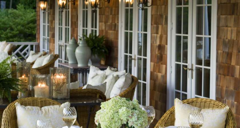 Brown Country Patio Outdoor Design Ideas Lonny